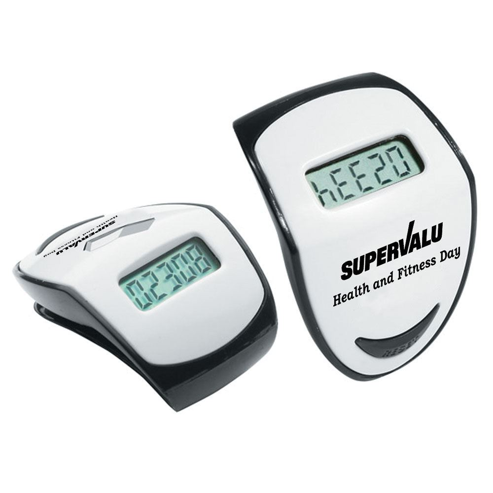 Top View LCD Display Step Hero Pedometer - Personalization Available