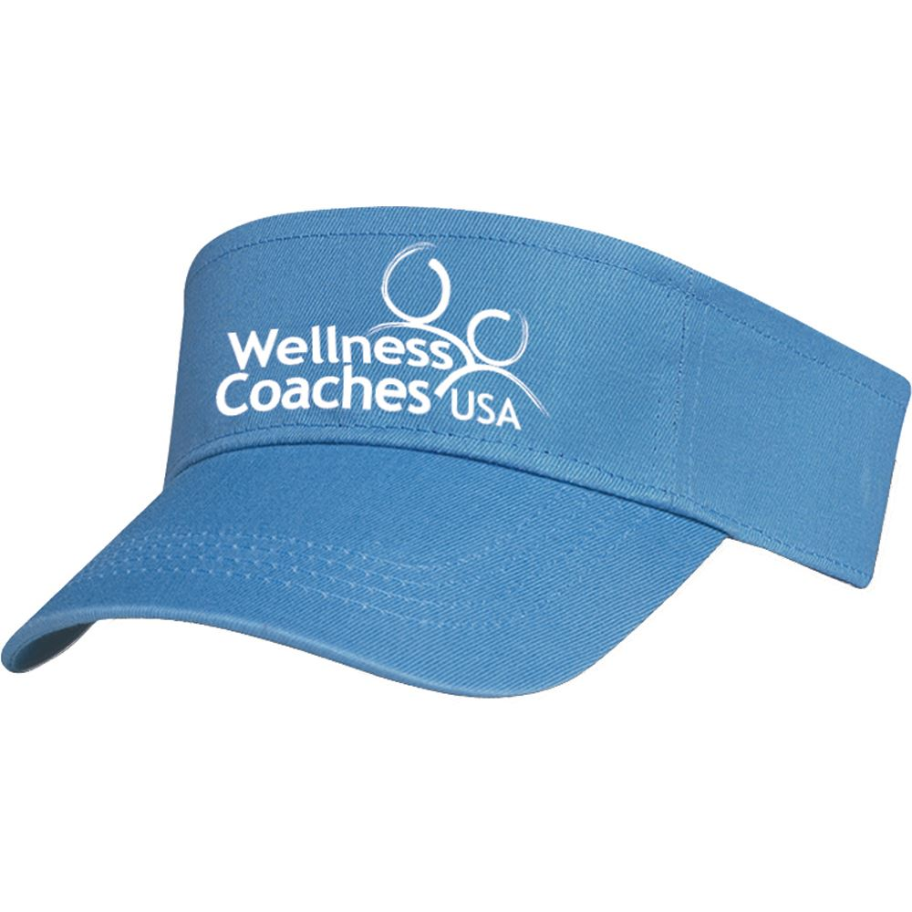 100% Cotton Twill Visor - Personalization Available