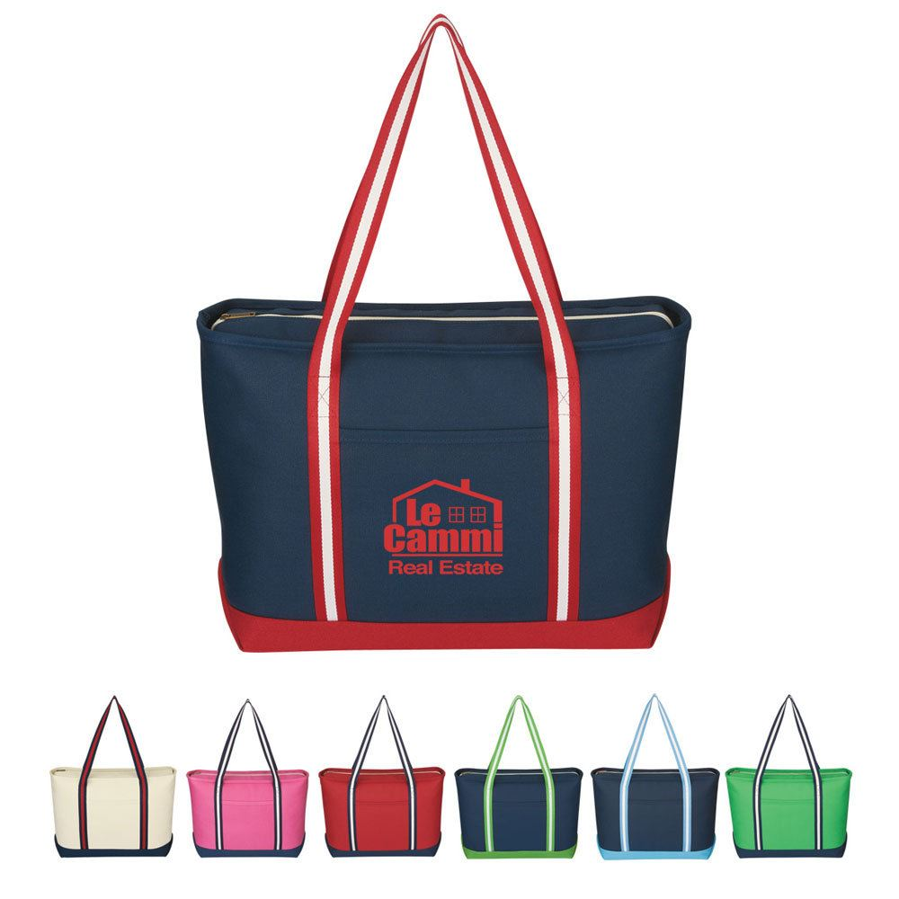 Large Cotton Canvas Admiral Tote - Personalization Available