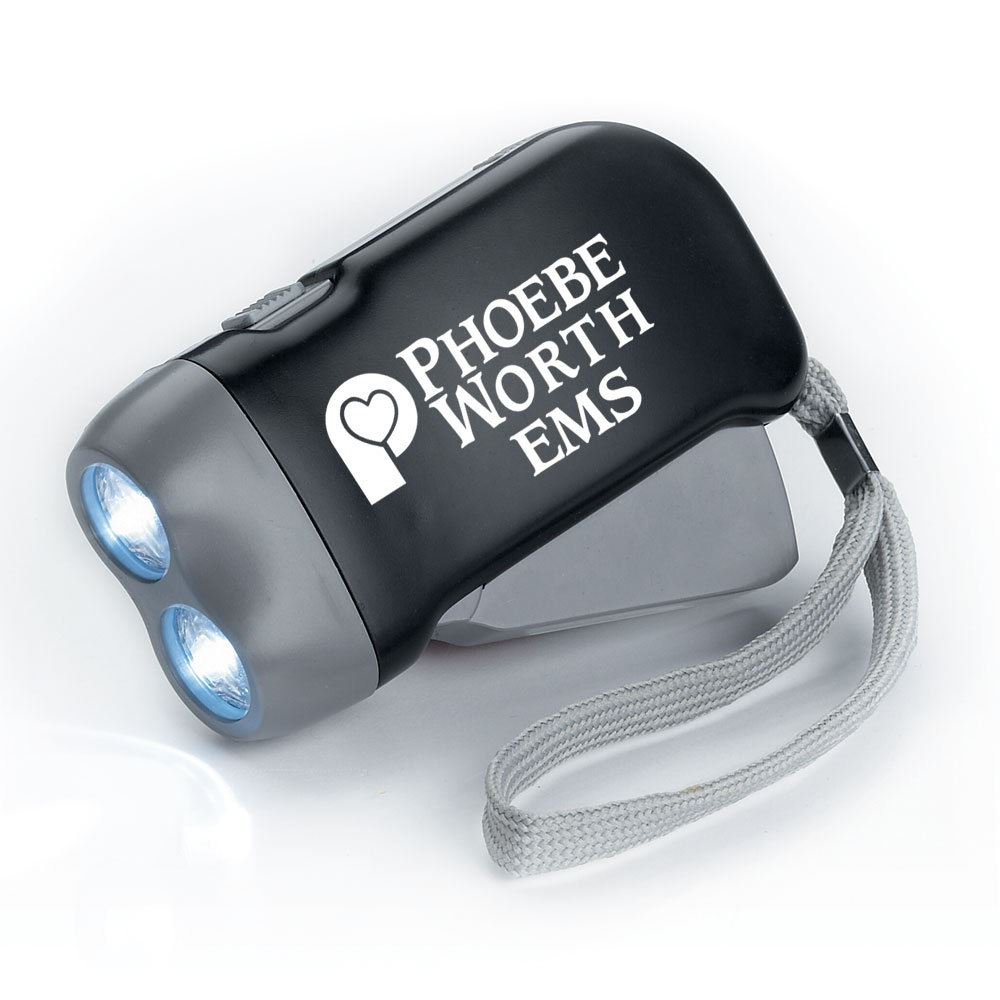 Emergency Rechargeable Crank Flashlight - Personalization Available