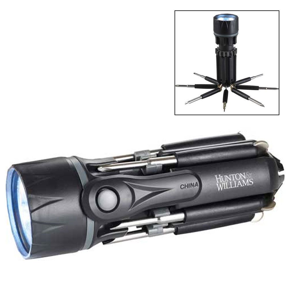 8-in-1 Screwdriver Flashlight Tool Set - Personalization Available