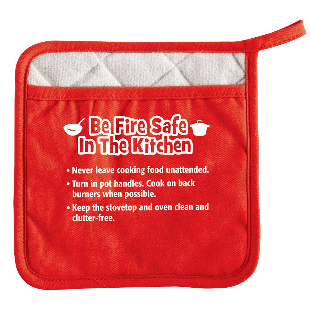Be Fire Safe In The Kitchen Pot Holder - Personalization Available