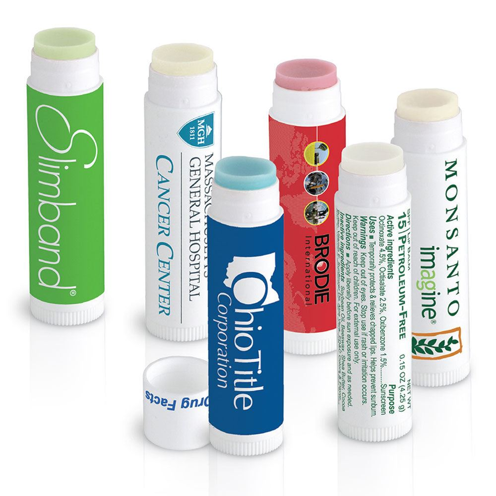 White Stick Petroleum-Free Lip Balm - Personalization Available
