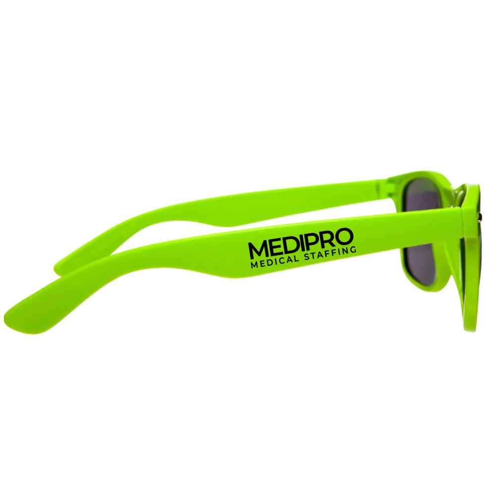 100% UVA Folding Malibu Polycarbonate Sunglasses - Personalization Available