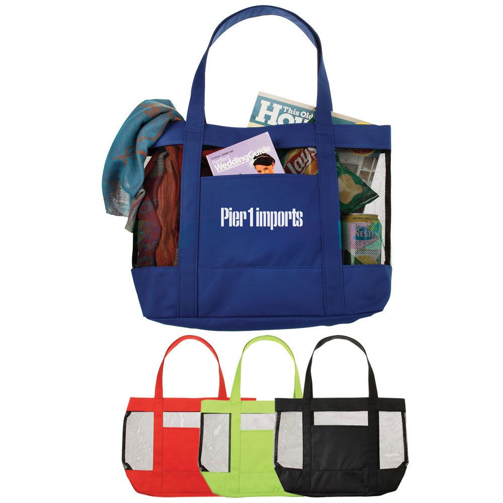 The Surfside Mesh Tote Bag - Personalization Available