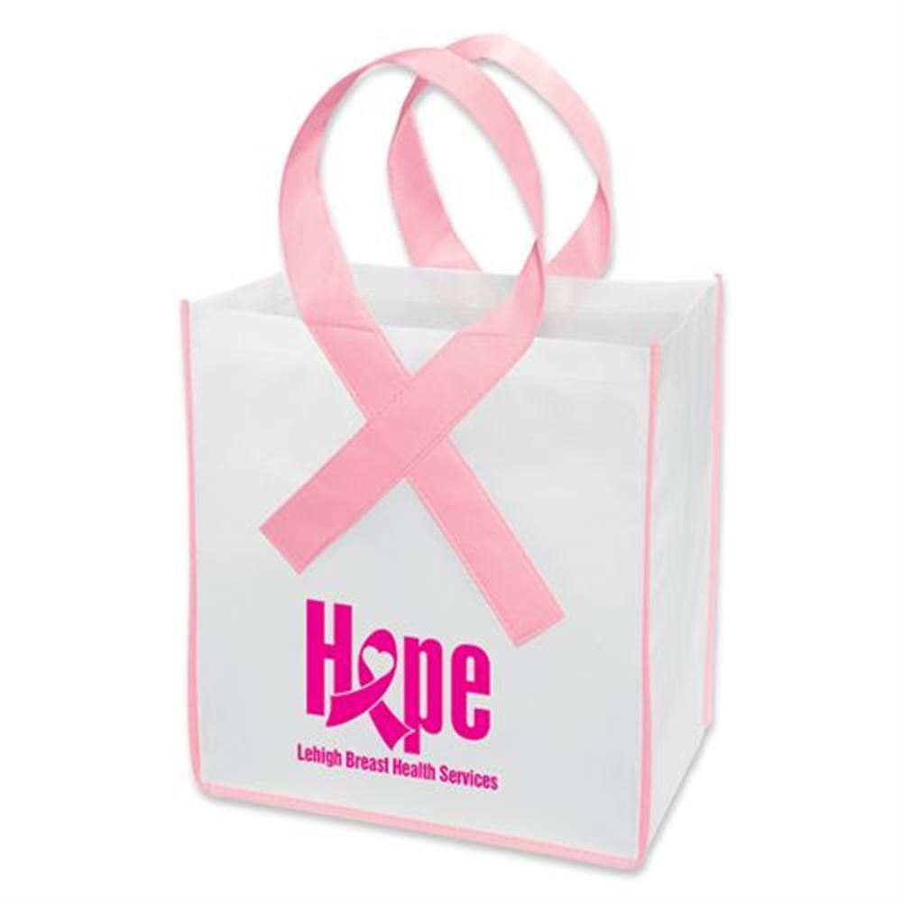 Ribbon Shopper Tote - Rectangle - Personalization Available