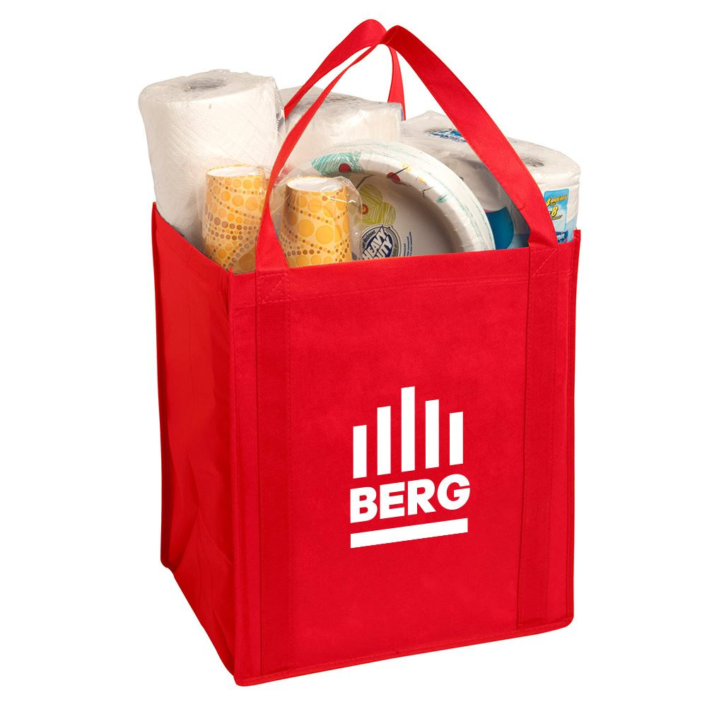 Large Non-Woven Grocery Tote - Personalization Available