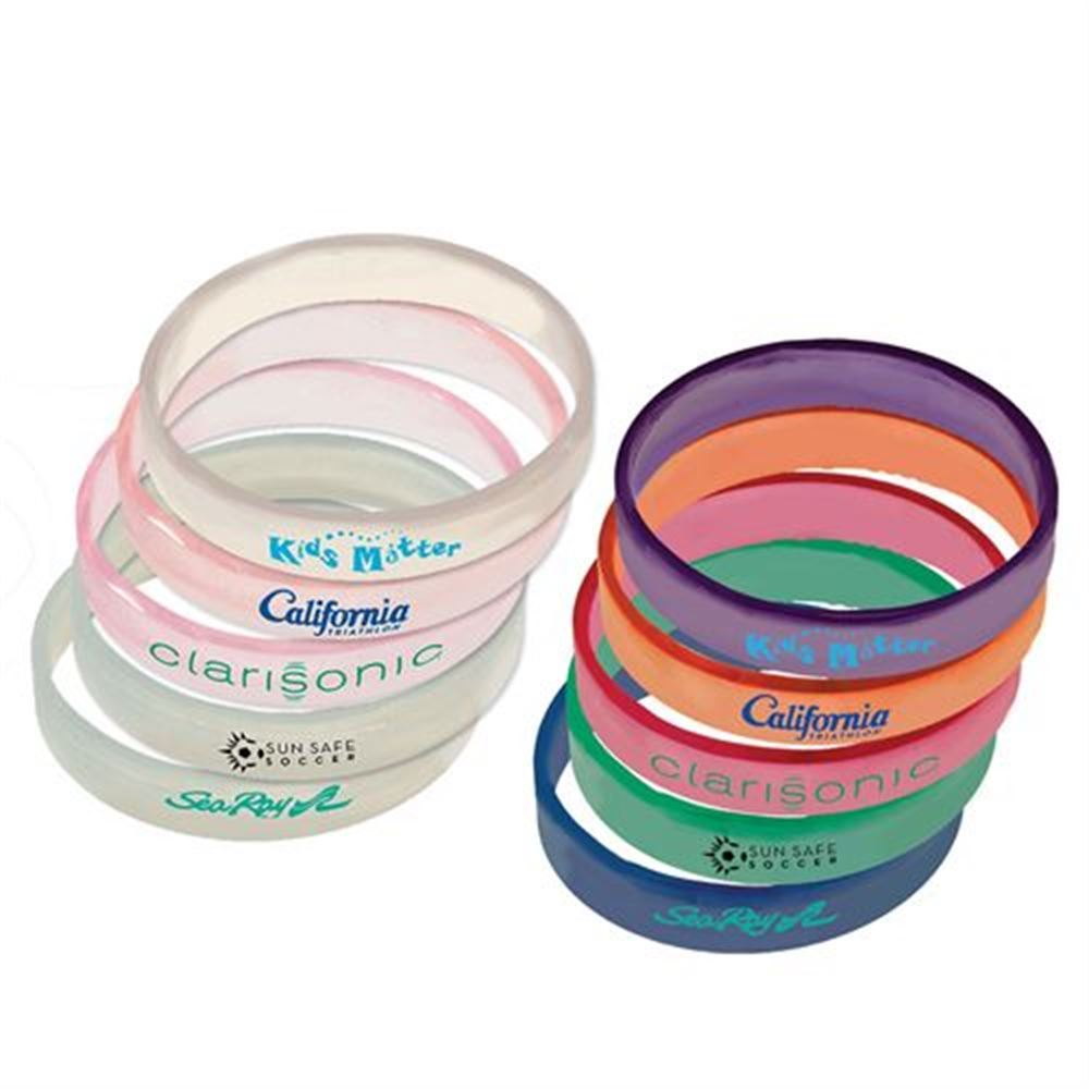 Sun Fun Silicone Bracelet (1 Side) - Personalization Available