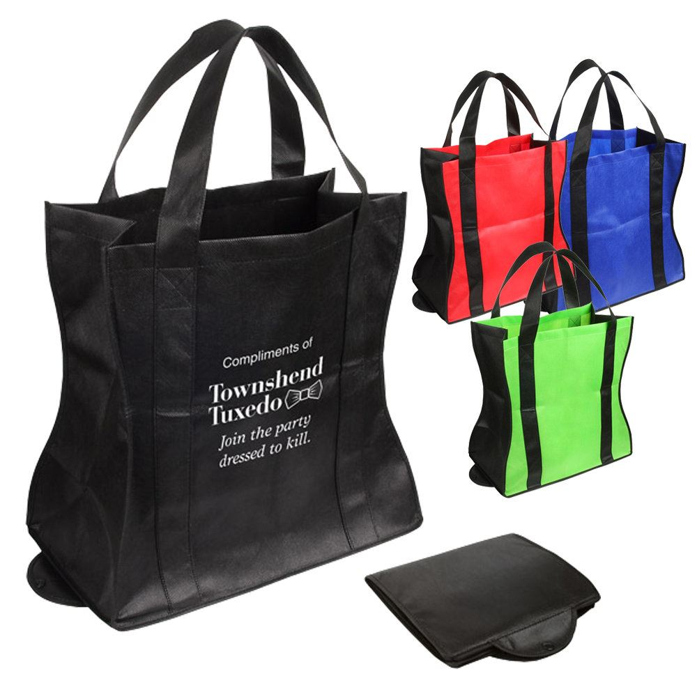 Wave Rider Folding Tote Bag - Personalization Available