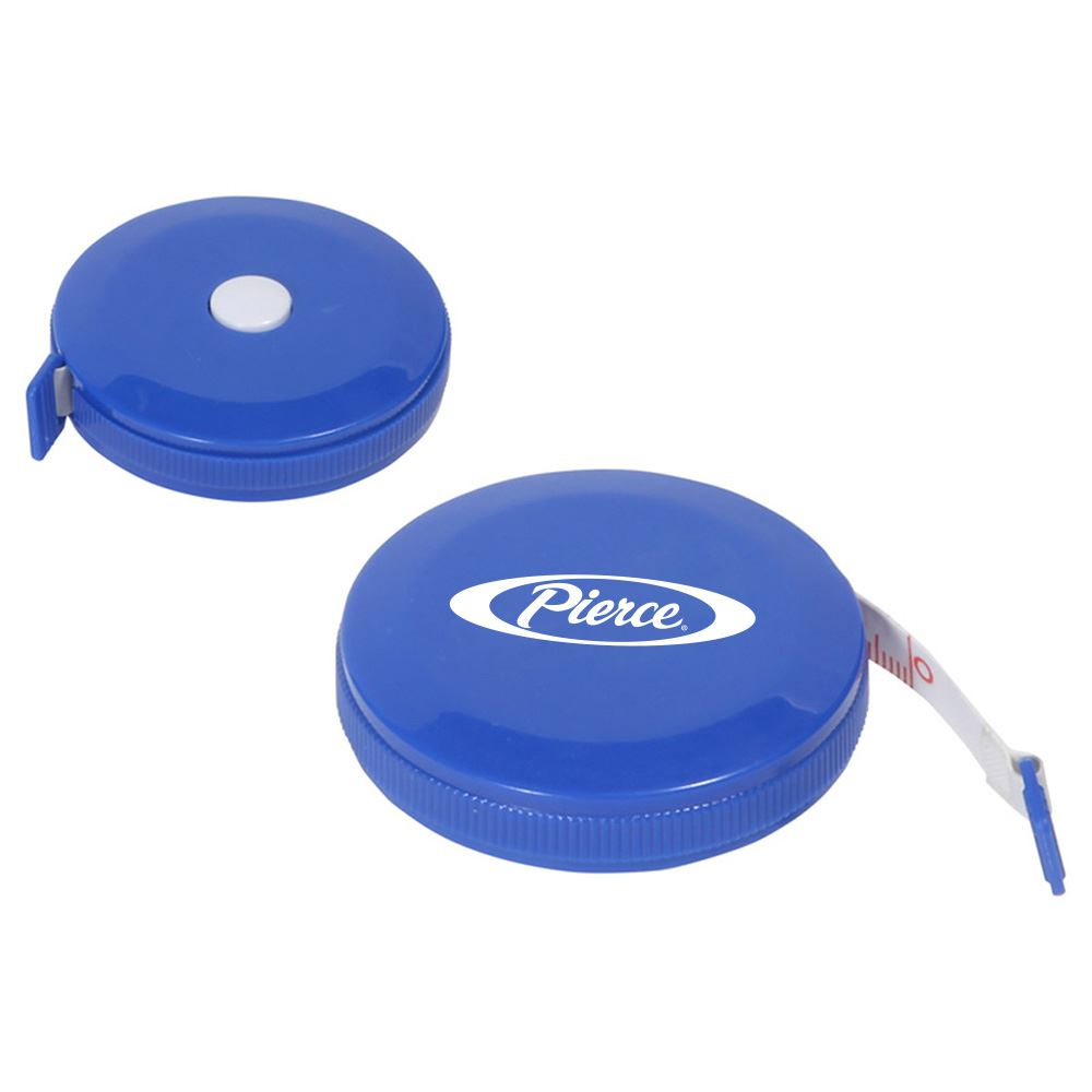 Round Tape Measure with Auto Lock - Personalization Available