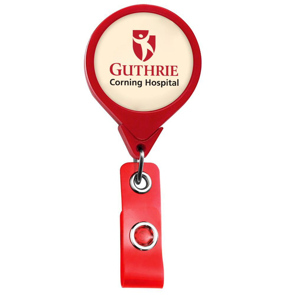 Jumbo Round Retractable Badge Holder - Personalization Available