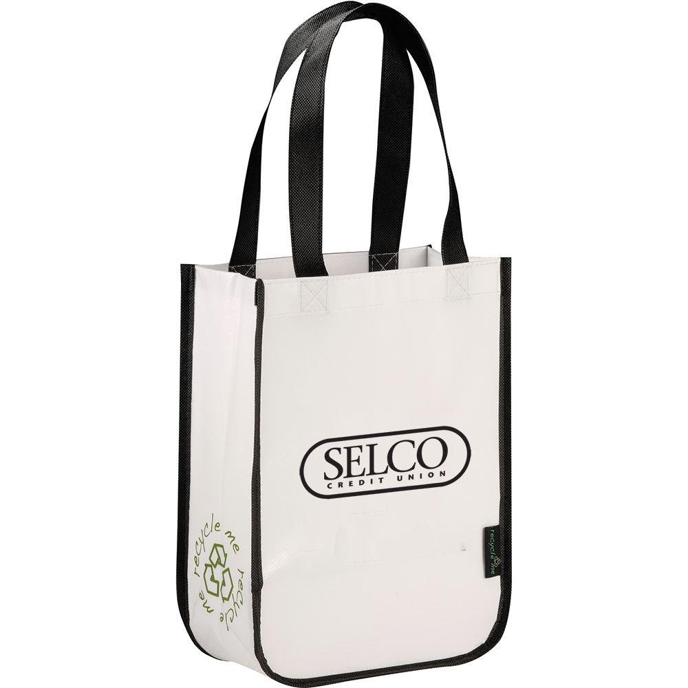 Laminated Non-Woven Small Shopper Tote - Personalization Available