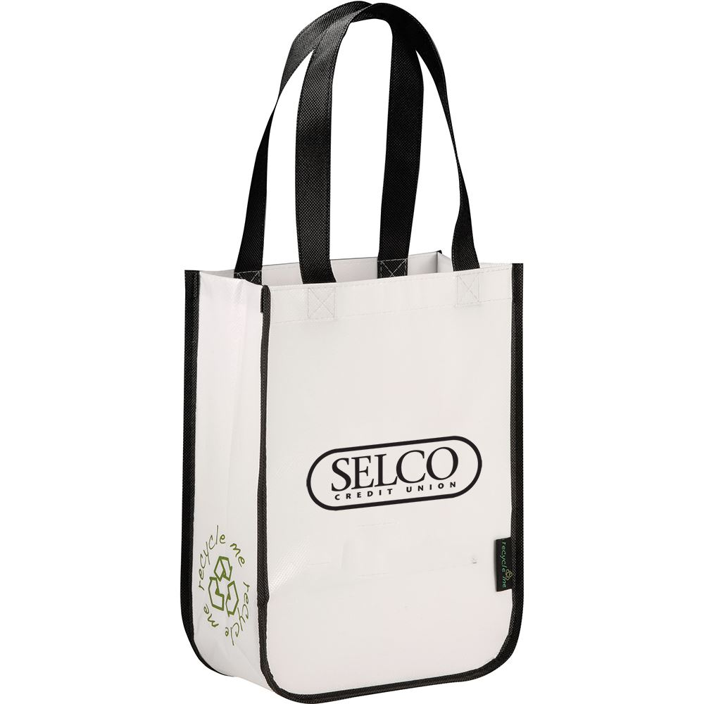 Laminated Non-Woven Small Shopper Tote - Personalization Available