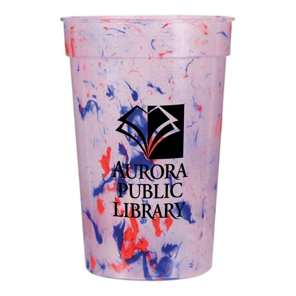 Color Confetti Plastic Stadium Cup 17-oz. - Personalization Available