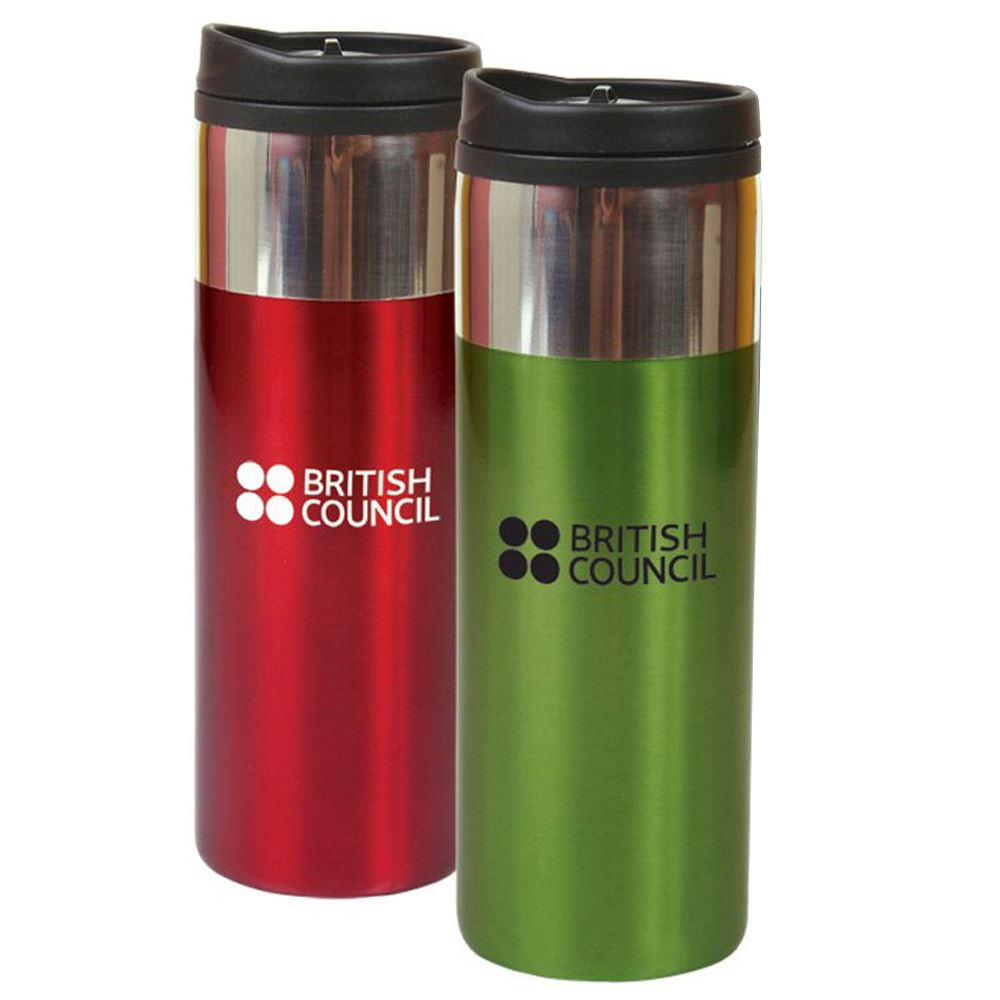 Chrome Band Tumbler 14-oz. - Personalization Available