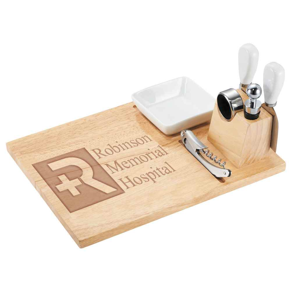 Entertainer Wine & Cheese Board - Personalization Available