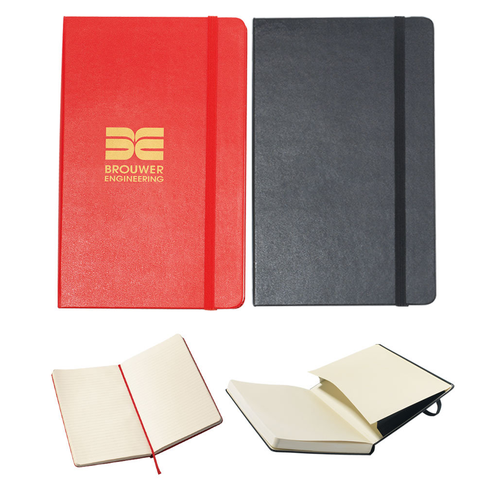 Moleskine® Hard Cover Ruled Large Notebook - Personalization Available