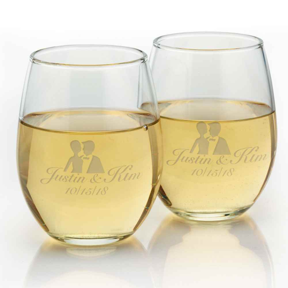 Stemless Wine Glass 9-oz. - Personalization Available