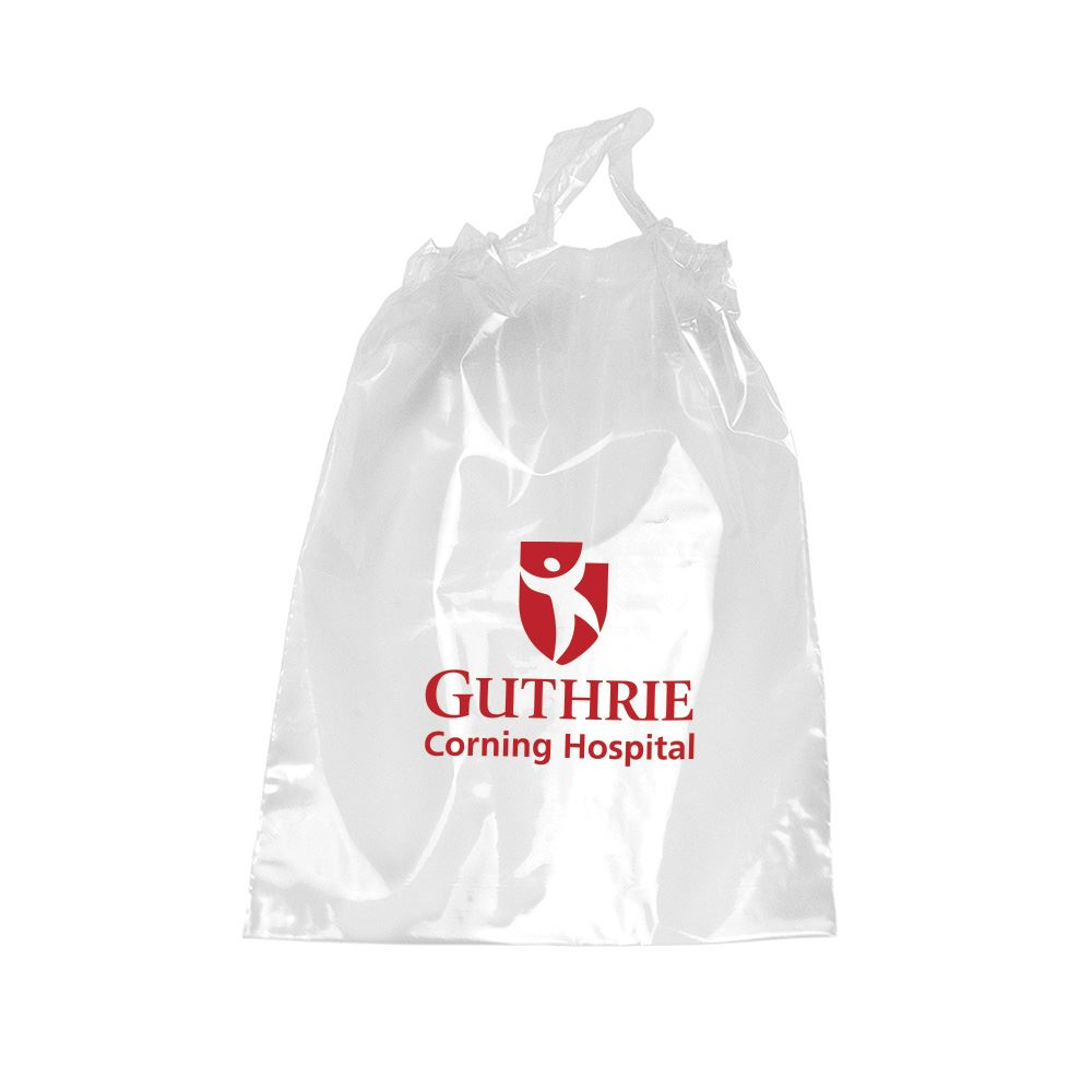 100% Recyclable Security-Approved Clear Poly-Draw Pull Goody Bags - Personalization Available