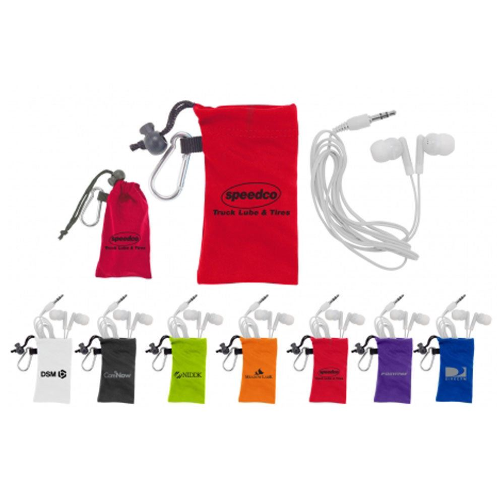 Microfiber Earbuds Pouch - Personalization Available