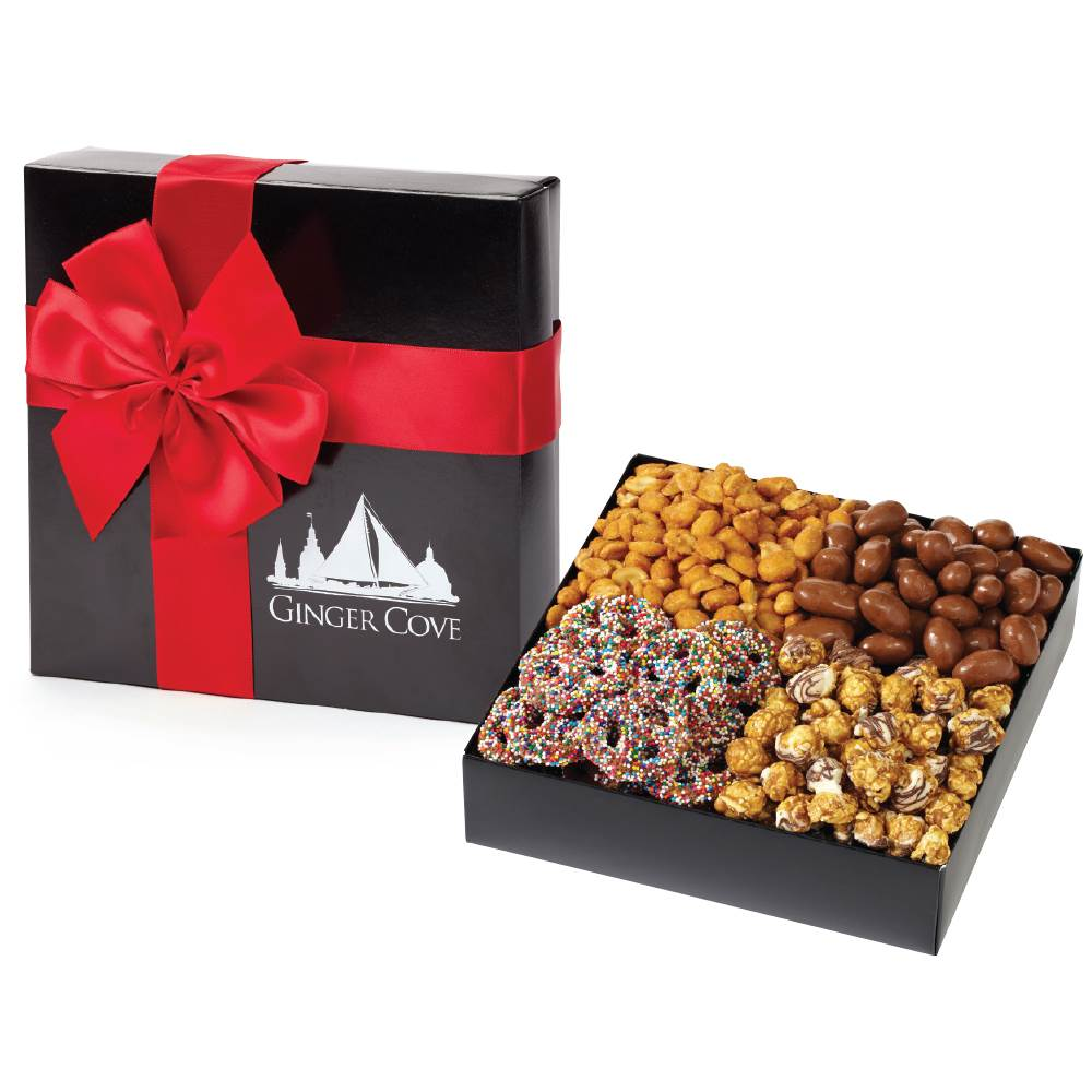 Elegant Sweet & Salty Combo Gift Box - Personalization Available