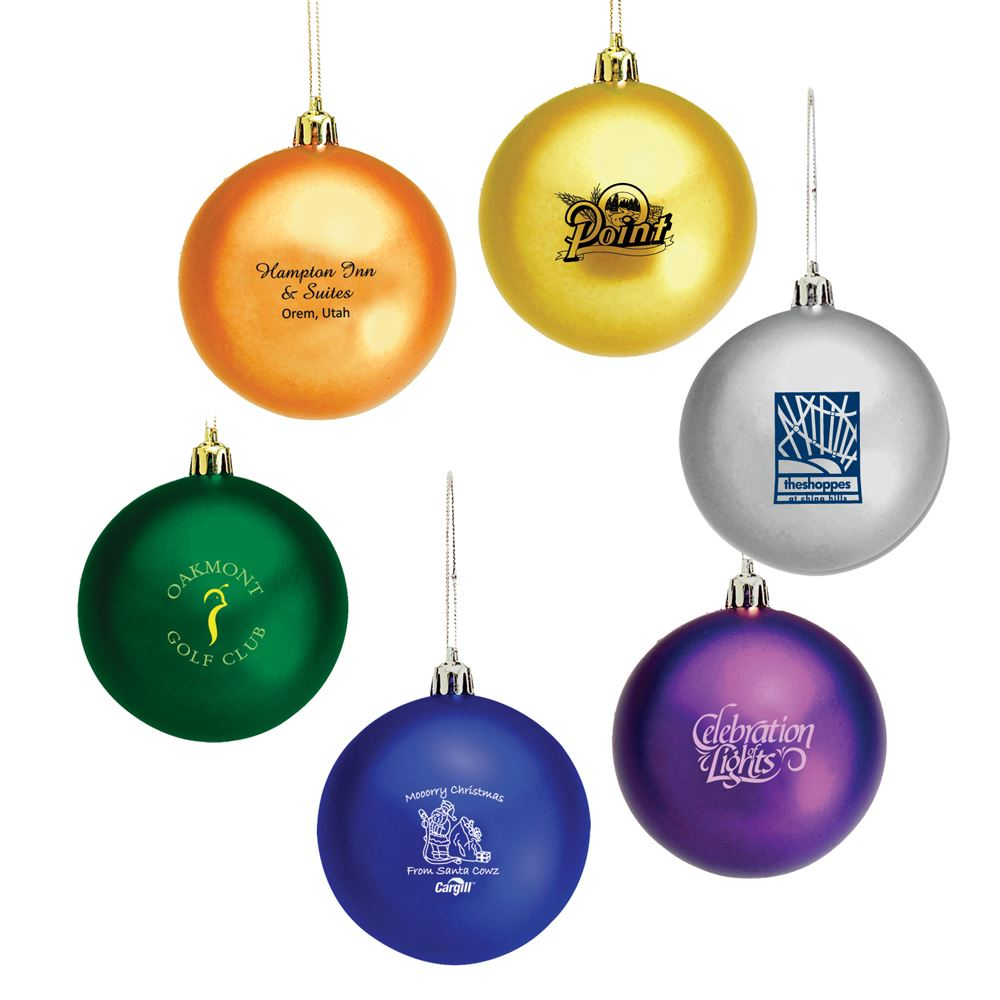 Shatter-Resistant Round Holiday Ornament - Personalization Available
