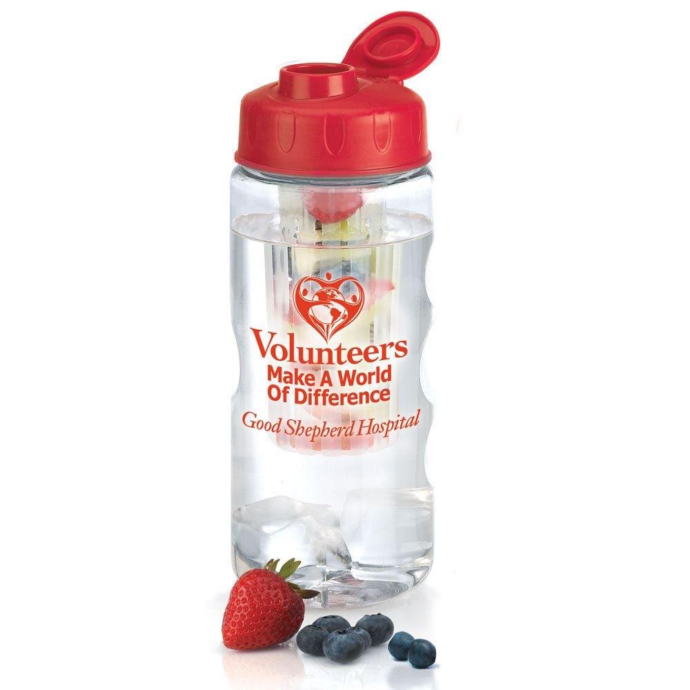 fruit infuser water bottle with personalization positive promotions. Black Bedroom Furniture Sets. Home Design Ideas