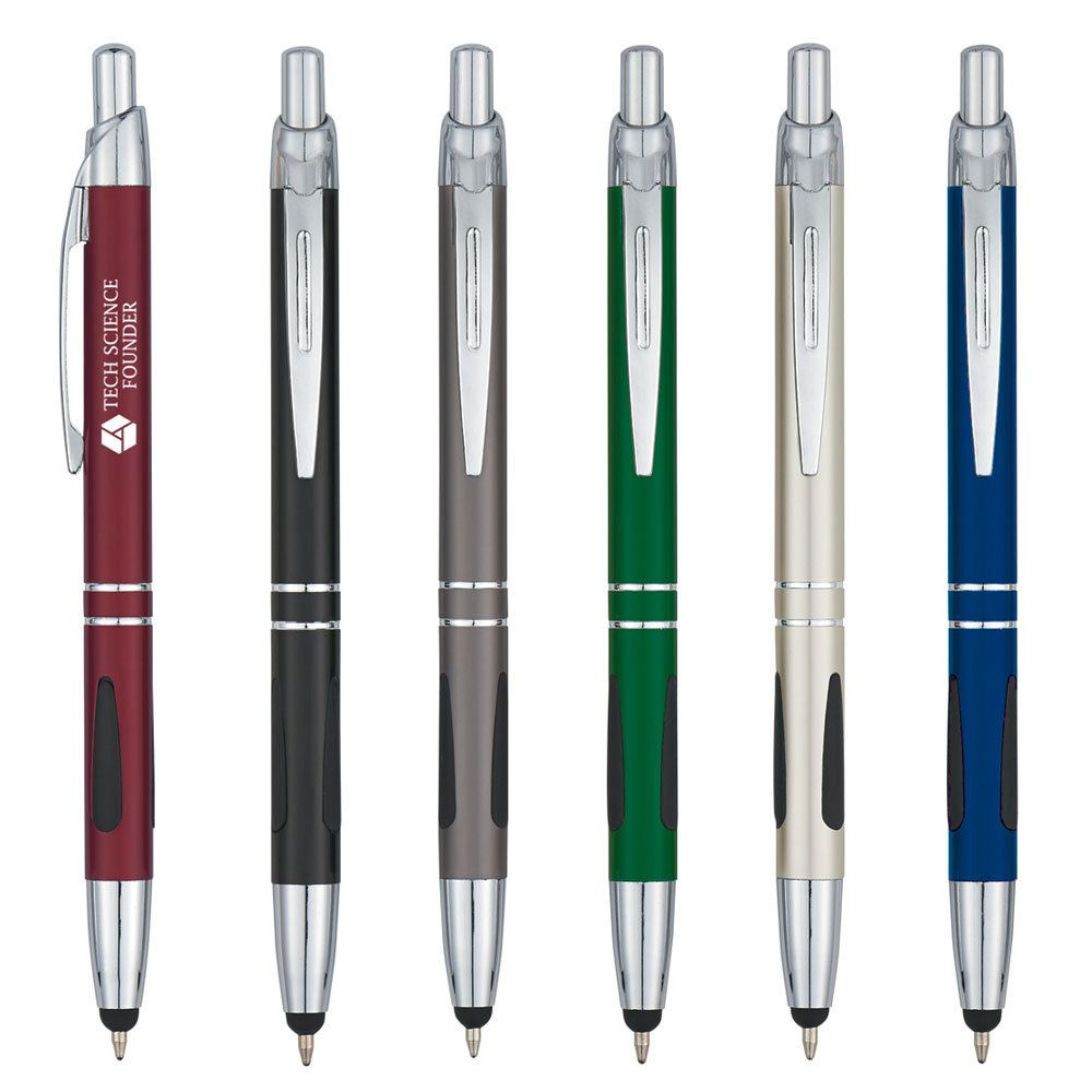 Tuscani Metal Pen With Stylus - Personalization Available