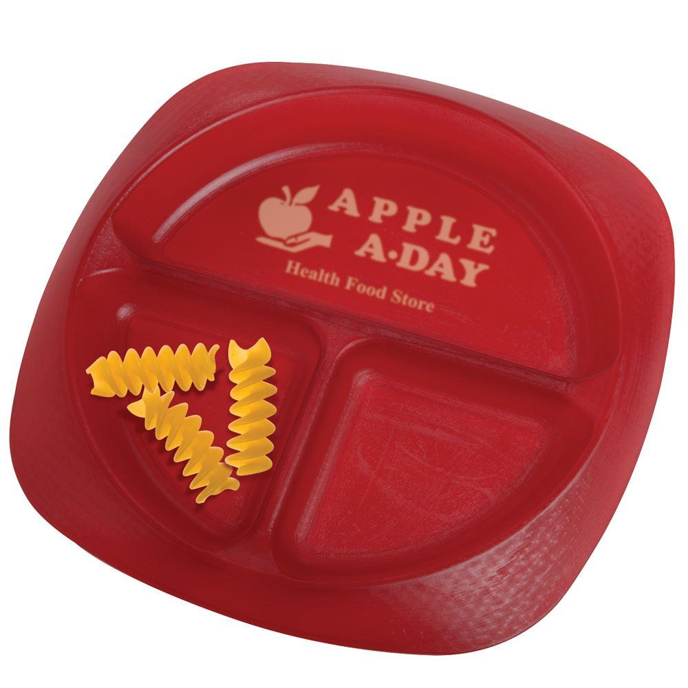 Children's Polypropylene Portion Plate - Personalization Available