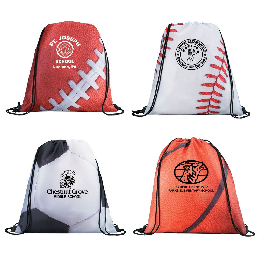 Sports Style Drawstring Backpack - Personalization Available