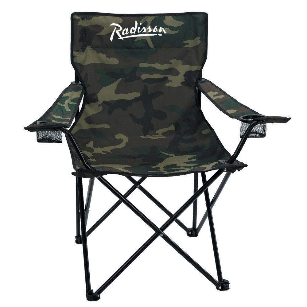 Nylon Camo Folding Chair & Carrying Bag