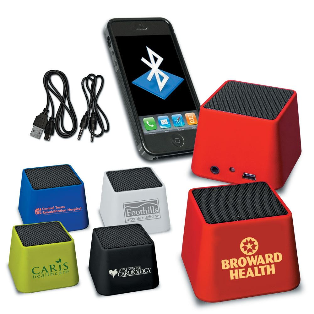 Mini Bluetooth® Cube Speaker - Personalization Available