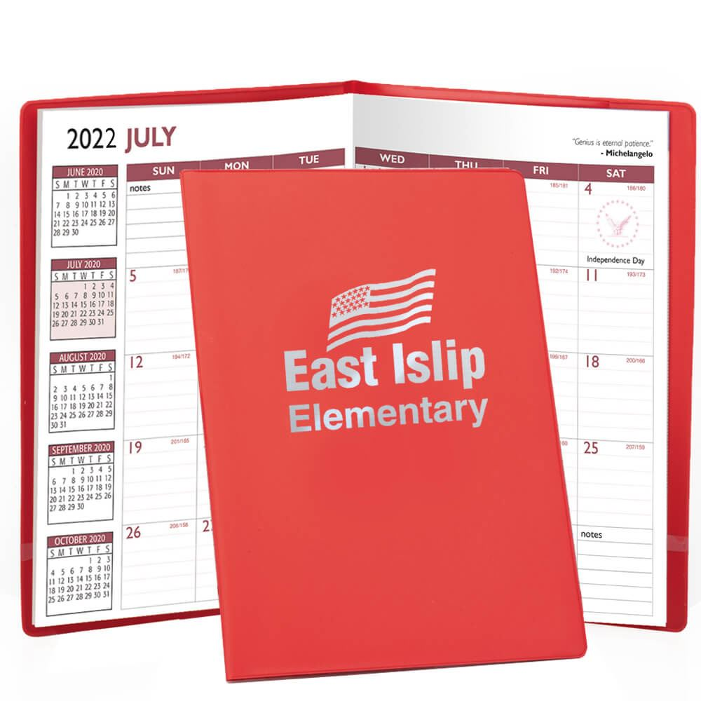 2020-2021 Academic/Scholastic Monthly Planner With Vinyl Cover - Personalization Available