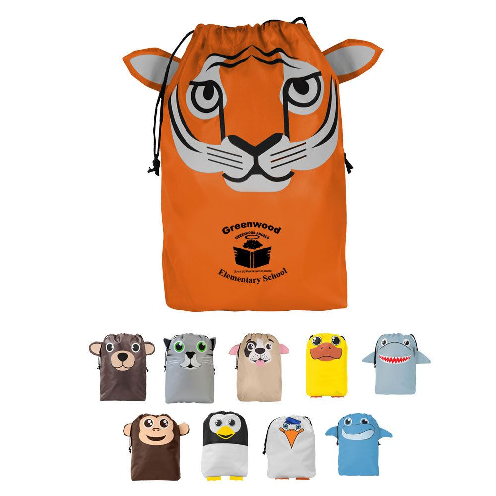 """PAWS""itive Pals Gift Bag With 3-Dimensional Animal Features - Personalization Available"