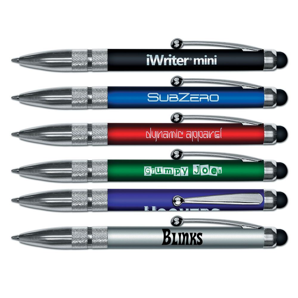iWriter Mini Stylus Metallic Colored Pen - Personalization Available