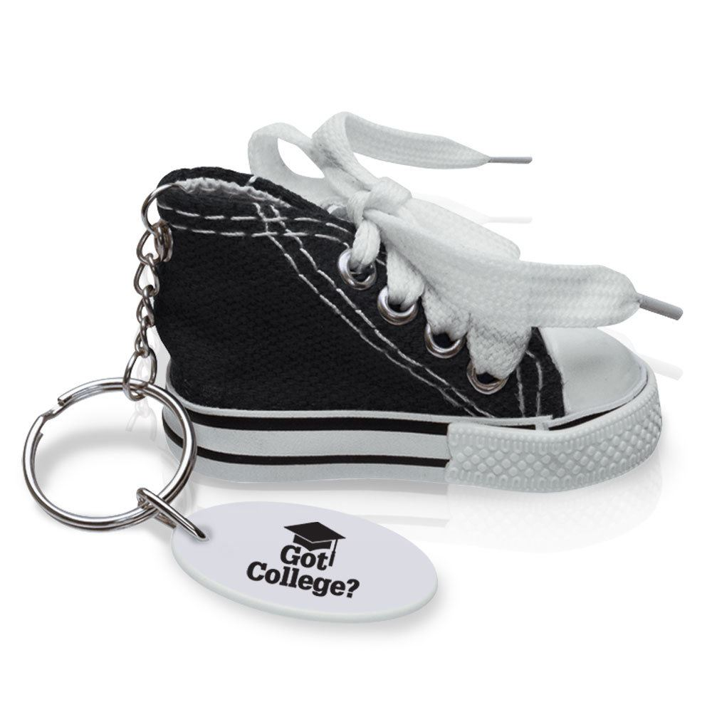 Got College? Mini Canvas Hi-Top Sneaker Key Tag