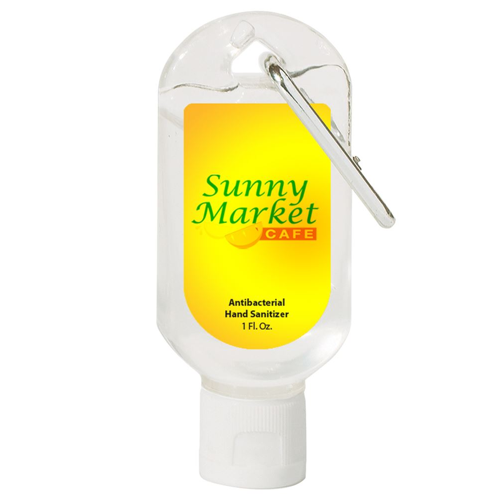 1 Oz. Hand Sanitizer With Carabiner - Personalization Available