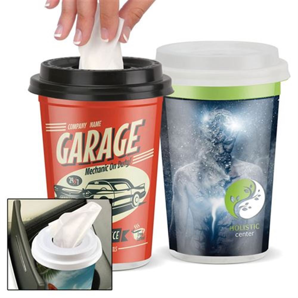 Tissues in Plastic To-Go Cup - Personalization Available