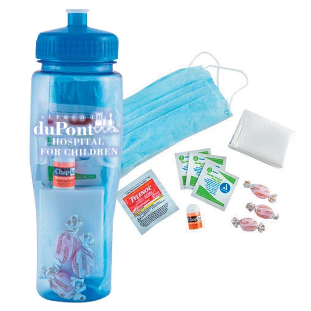 24-Oz. Hydro Flu Kit & BPA-Free Water Bottle - Personalization Available