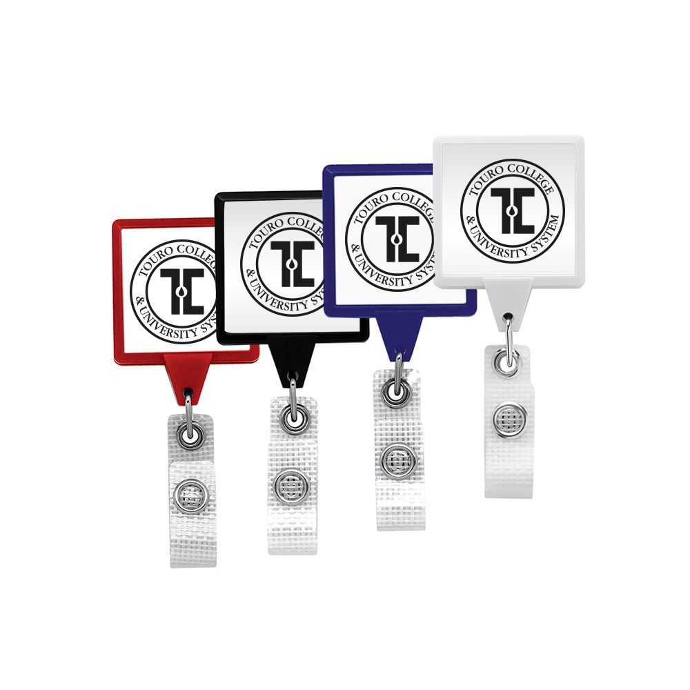 Jumbo Retractable Badge Reel with Antimicrobial Additive - Personalization Available