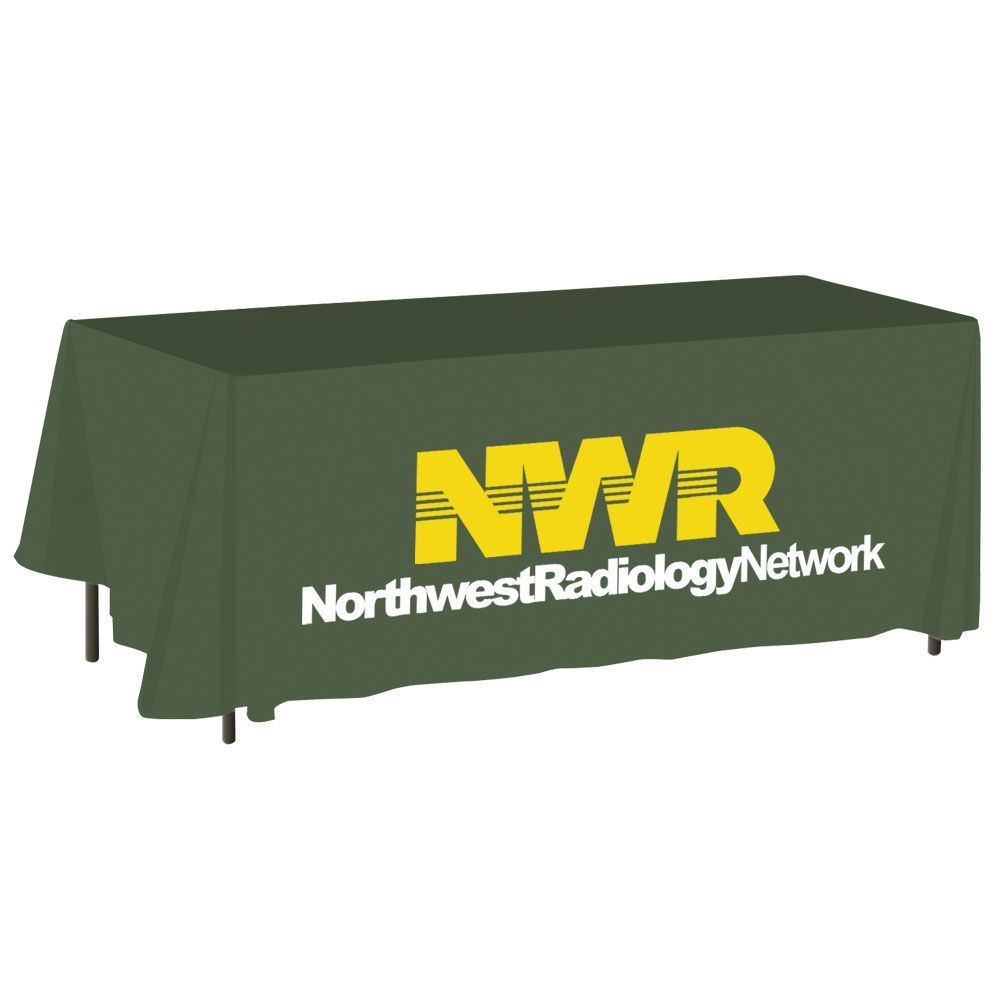 6-Foot Digital Full-Color Flat Table Cover - Personalization Available