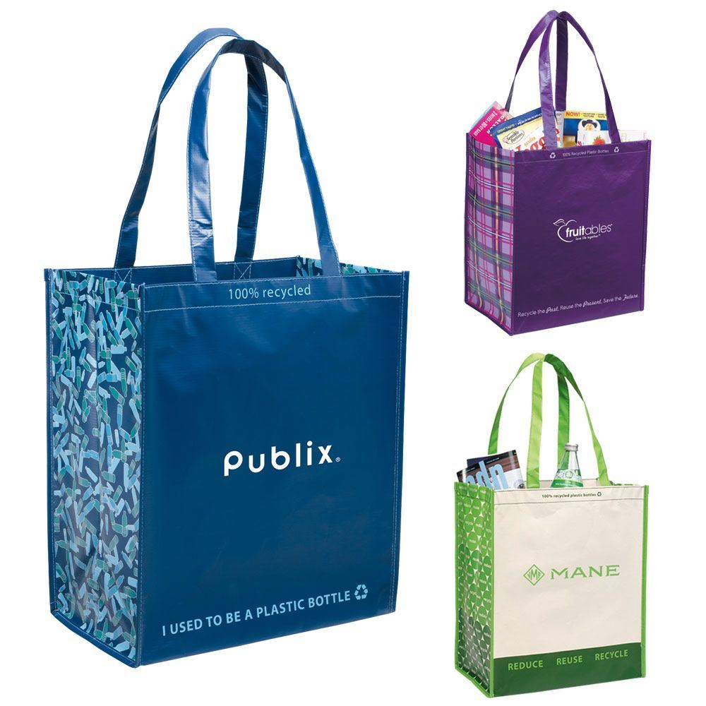 Laminated 100% Recycled Shopper Tote - Personalization Available