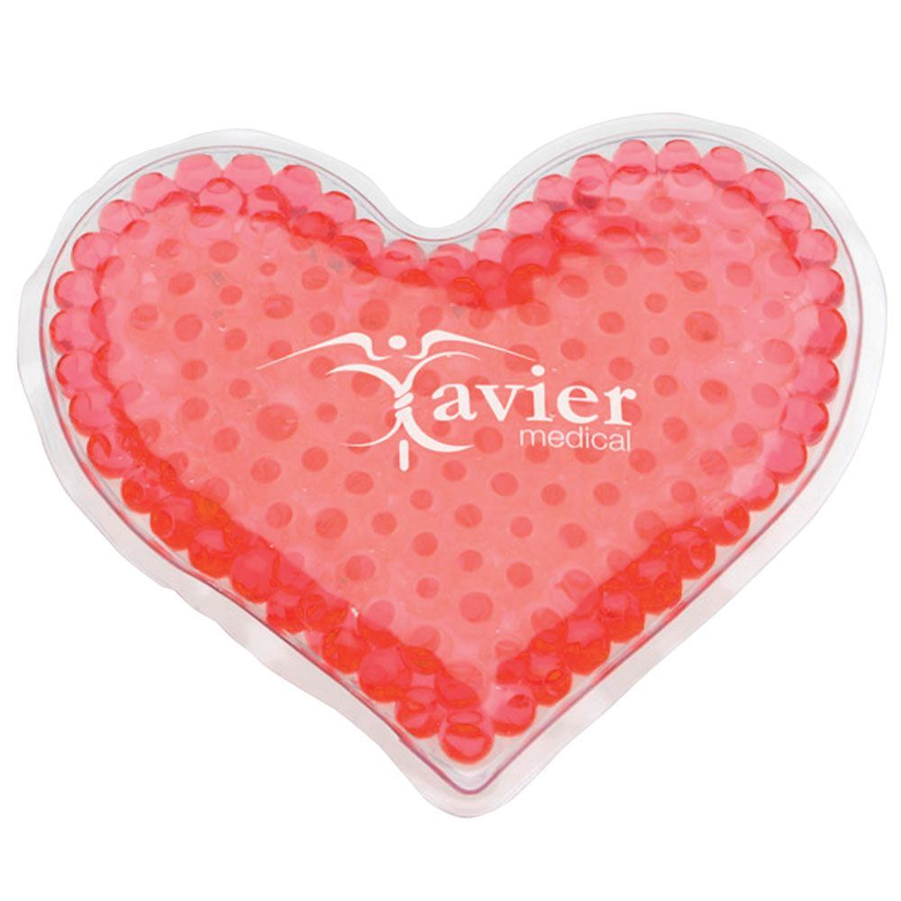 Aqua Bead Gel Hot/Cold Pack - Heart - Personalization Available
