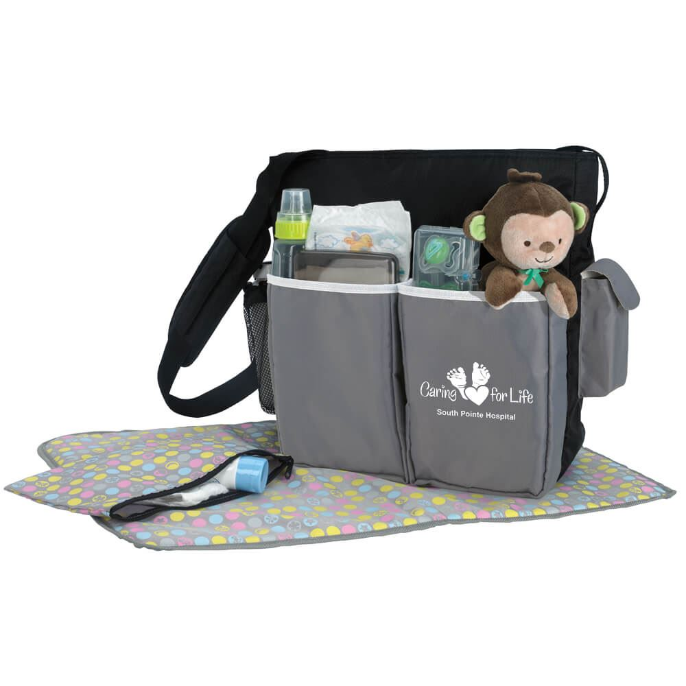 Bundle Of Joy Diaper Bag With Five Exterior Pockets - Personalization Available