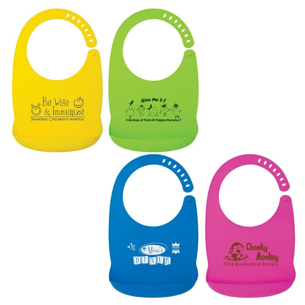 Silicone Baby Bib - Personalization Available