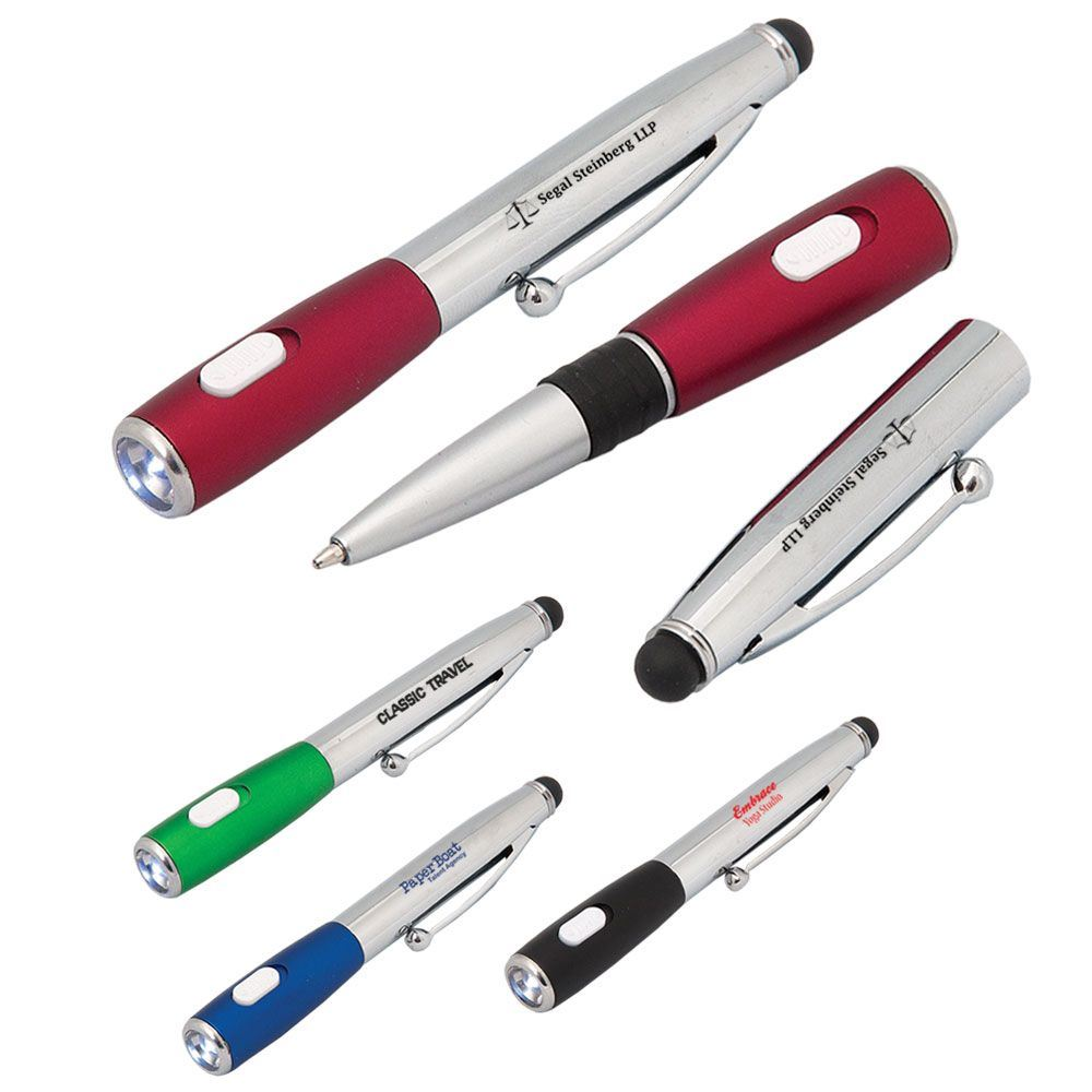 Northern Light Pen Stylus With LED Flashlight - Personalization Available