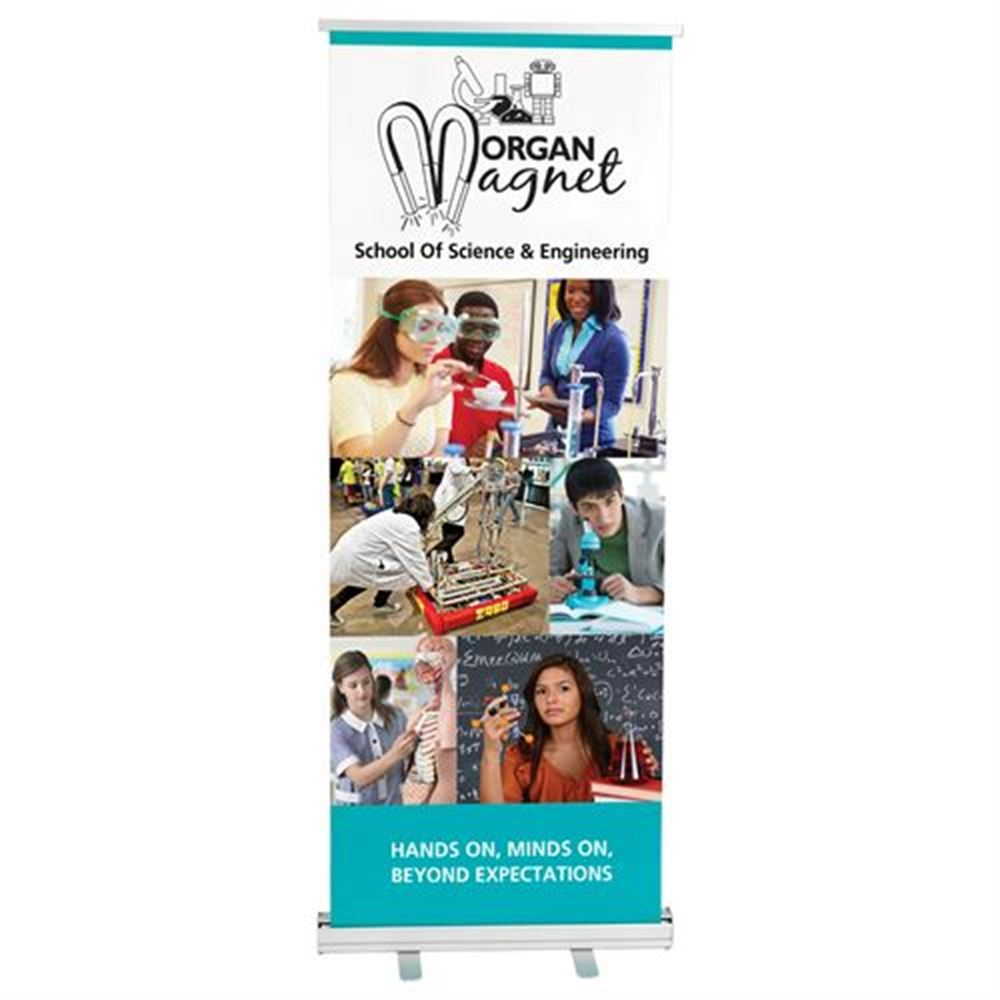 Turbo Lite Retractable Banner with Stand and Travel Case