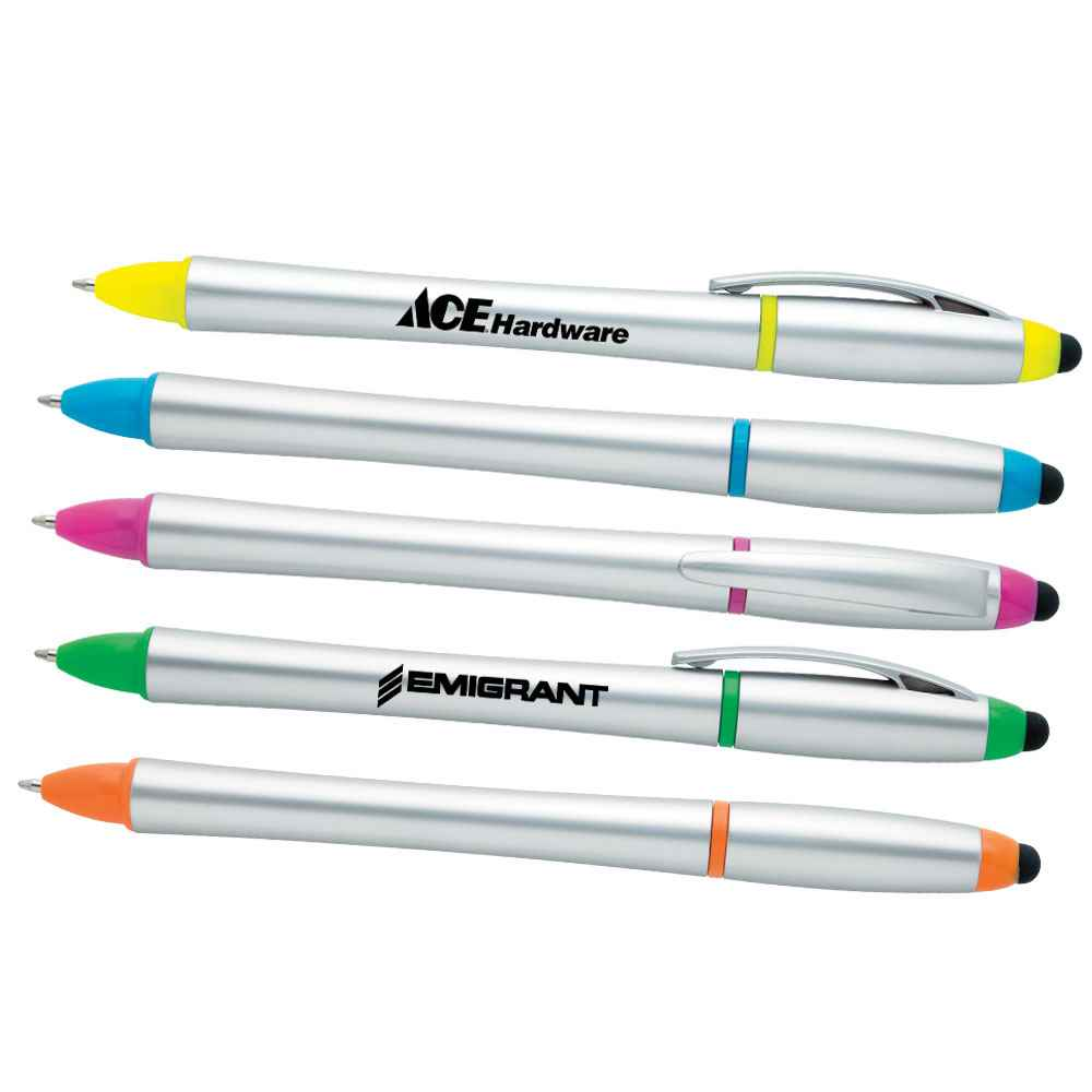 3-in-1 Custom Stylus Twist Pen & Highlighter Combo - Personalization Available
