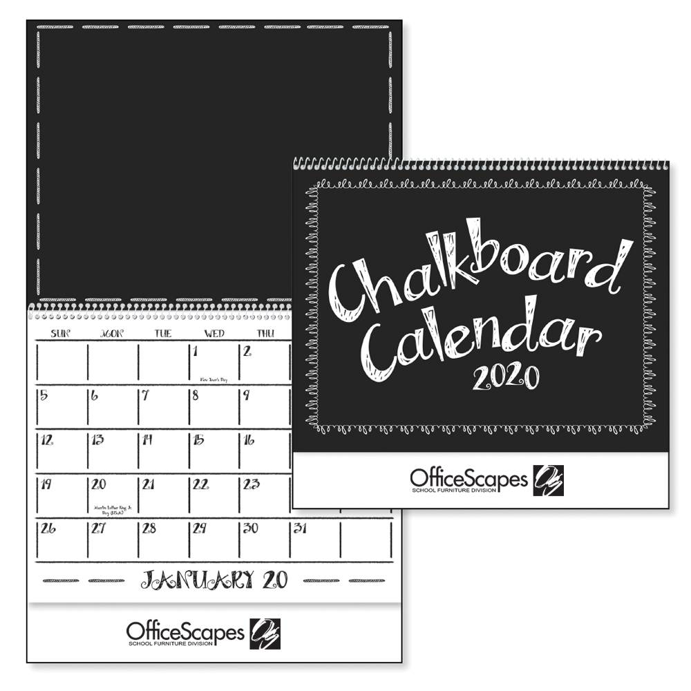 Chalkboard 2020 Deluxe Appointment Calendar - Spiral - Personalization Available