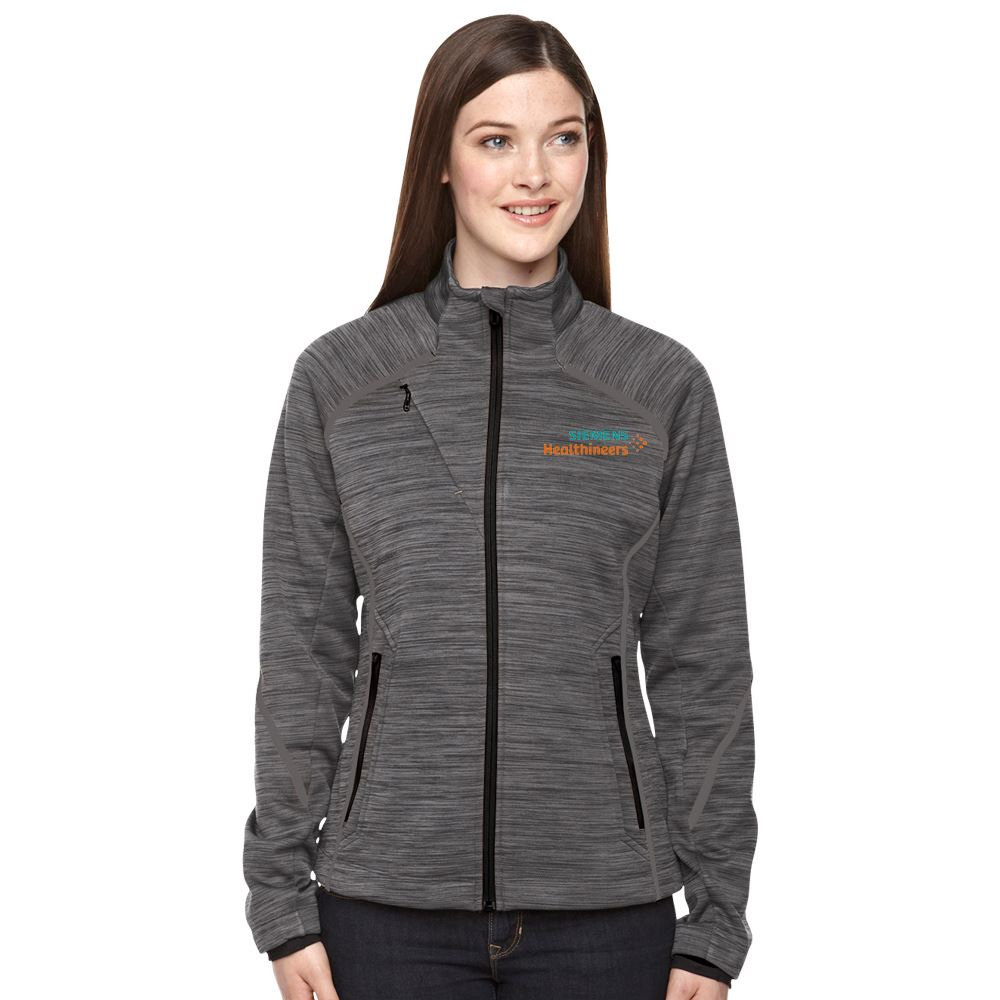 Women's North End® Melange Bonded Fleece Jacket - Embroidery Personalization Available